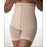 Post Partum Body Shaper with Adjustable Corset, Mid Thigh Length